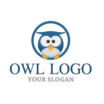 Logo della mascotte del gufo
