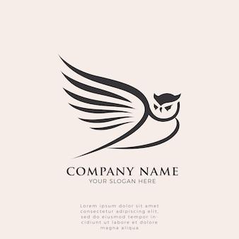 Logo di ali di gufo