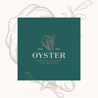 Logo del ristorante e del bar di pesce di ostriche