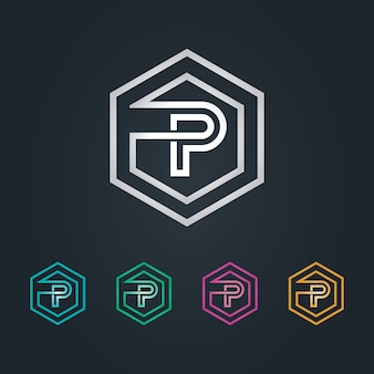 Logo p esagone