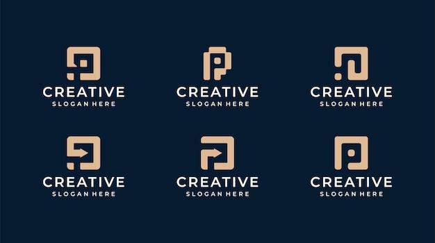 P lettera logo illustrazione grafica vettoriale