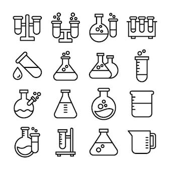 Confezione di icone attrezzature biochimica