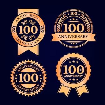 Confezione da cento etichette di anniversario