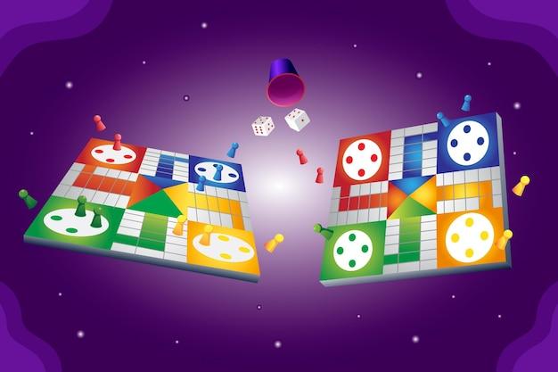Confezione da prospettive di gioco da tavolo ludo