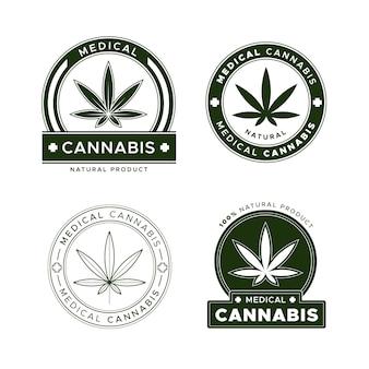 Confezione di badge per cannabis medica
