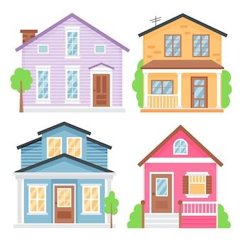 Confezione di case diverse minime
