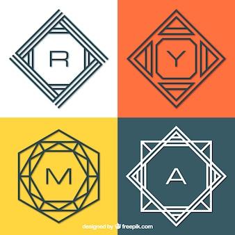 Confezione di monogrammi moderni