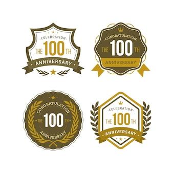 Confezione da cento etichette anniversario
