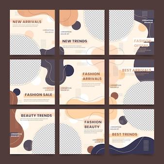 Pacchetto di feed di puzzle dei social media
