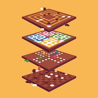 Confezione di giochi da tavolo strategici