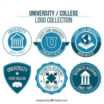 Confezione da loghi universitari