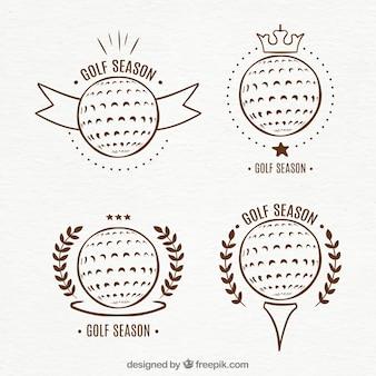 Confezione di etichette da golf vintage
