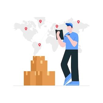 Concetto di consegna del pacchetto