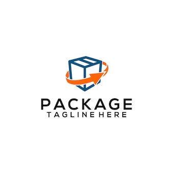 Concetto di vettore del logo del pacchetto modello del logo del pacchetto
