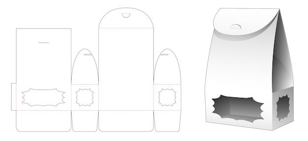 Sacchetto di imballaggio con modello fustellato finestra stella multipunto