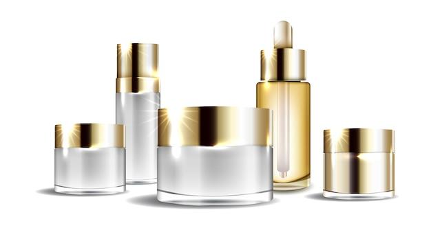 Confezione di flaconi di crema cosmetica di bellezza per flaconi di prodotti cosmetici di lusso per la cura della pelle liquida