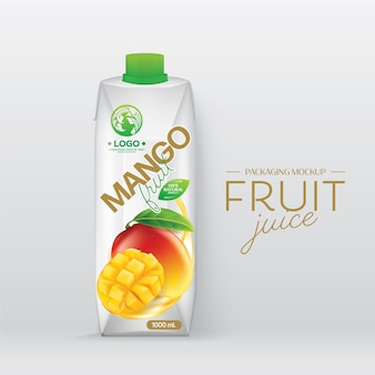 Packaging design mango juice