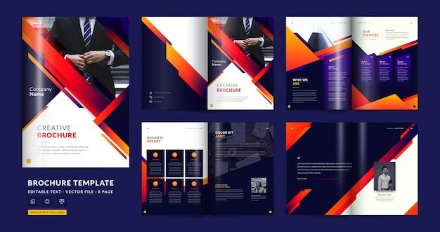 Modello di brochure aziendale di pagina