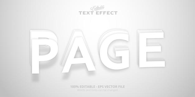 Testo della pagina, effetto di testo modificabile