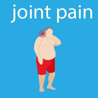 Dolore al collo l'uomo ha un dolore al rachide cervicale ernia vertebrale e osteocondrosi