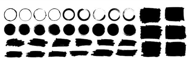 Illustrazione stabilita mega dei pennelli