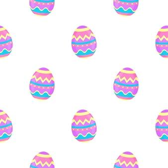 Dipingi il reticolo senza giunte delle uova. sfondo decorativo per pasqua.
