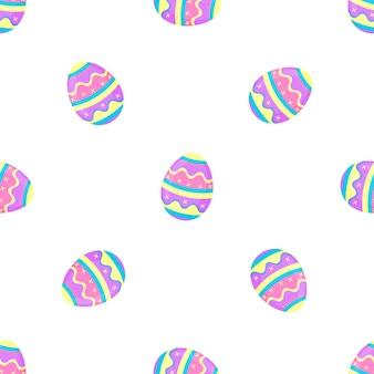 Dipingi il reticolo senza giunte delle uova. banner decorativo per pasqua.