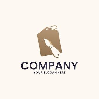 Pennello, negozio, ispirazione per il design del logo