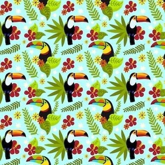 Motivo floreale tropicale dipinto