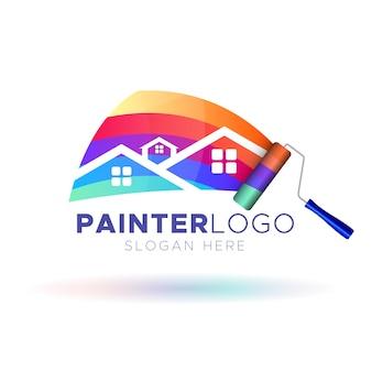 Modello di logo del pittore