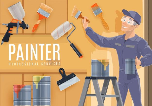 Professione di pittore del settore edile