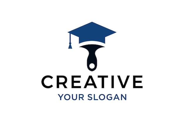 Modello di progettazione del logo dell'accademia di pittura