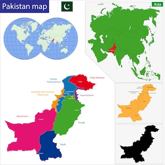 Mappa del pakistan
