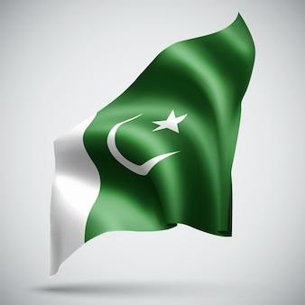 Pakistan, bandiera 3d vettoriale isolato su sfondo bianco
