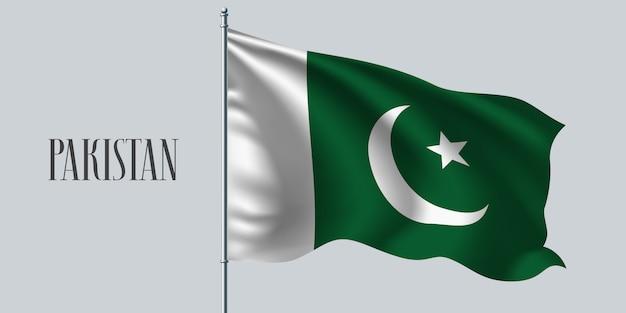 Pakistan sventolando bandiera