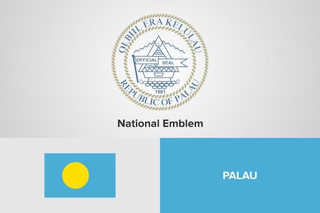 Modello di bandiera dell'emblema nazionale di palau
