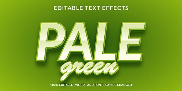Effetto testo modificabile verde chiaro
