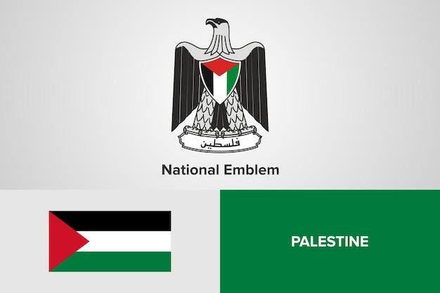Modello di bandiera dell'emblema nazionale palestinese