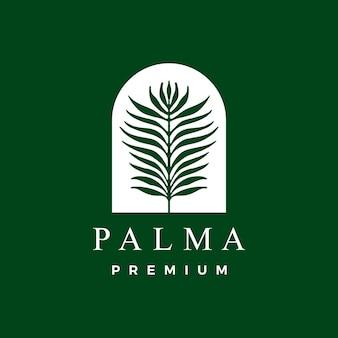 Modello logo foglia di palma