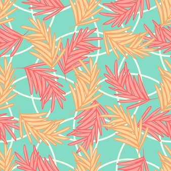 Modello astratto colorato senza cuciture delle foglie di palma