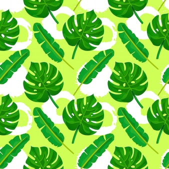 Seamless pattern di foglie di palma.