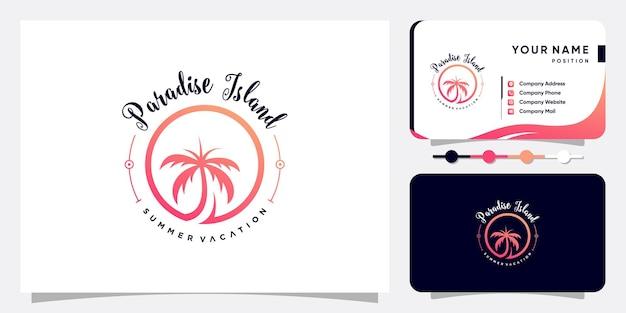 Design del logo della palma con un concetto moderno e creativo vettore premium