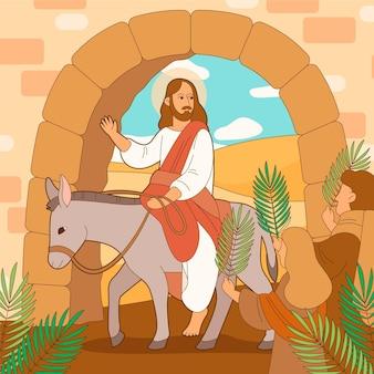 Illustrazione della domenica delle palme