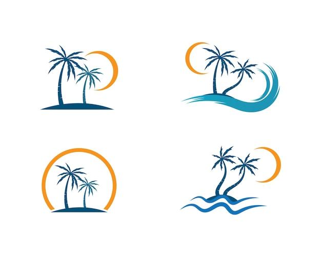 Vettore dell'illustrazione del modello di logo della palma