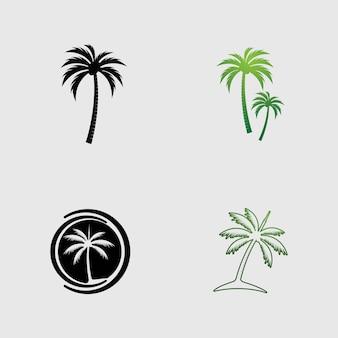 Immagine vettoriale del modello del logo della palma