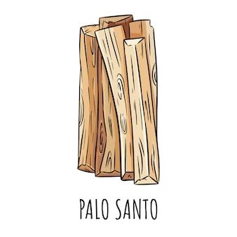 L'aroma dell'albero di legno santo di palo santo si attacca dall'america latina. fascio di incenso che brucia macchie