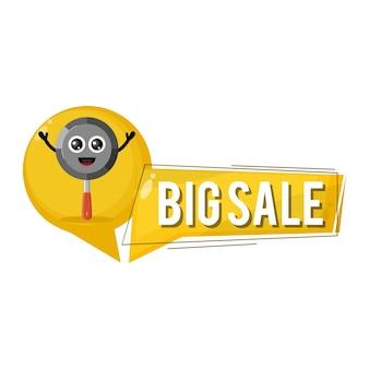 Pan grande vendita simpatico personaggio mascotte