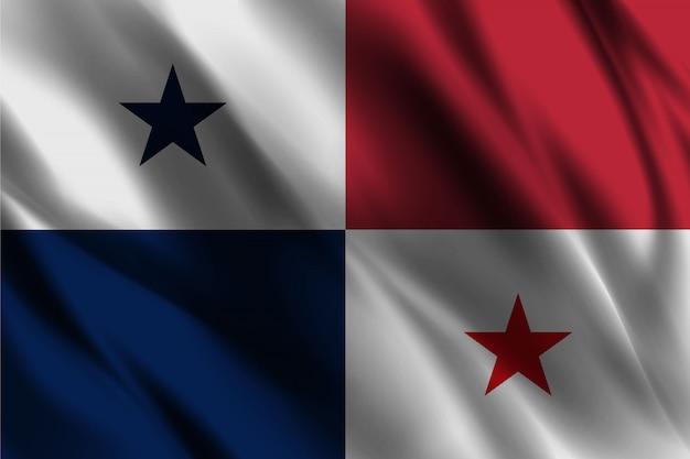 Bandiera di panama sventolando effetto seta