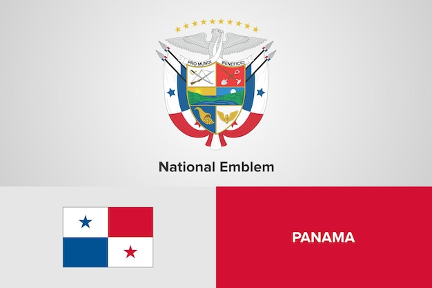 Modello di bandiera dell'emblema nazionale di panama