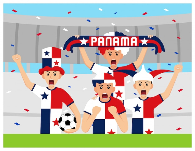 Sostenitori di panama in design piatto